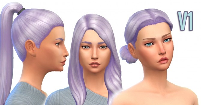 Sims 4 Violaceous Lilac Hair Colour (V1) by kellyhb5 at Mod The Sims