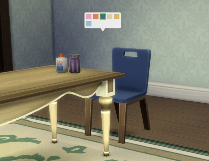 Sims 4 Activity Chair (for any table) by plasticbox at Mod The Sims