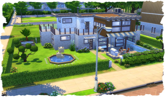 Sunshine Pool House By Chalipo At All 4 Sims