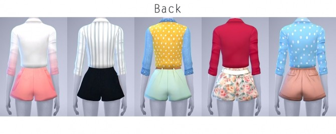Sims 4 Crop Shirt and Short Pants at manuea Pinny
