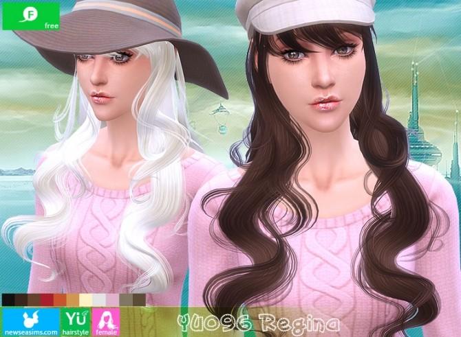 Sims 4 YU096 Regina hair (FREE) at Newsea Sims 4