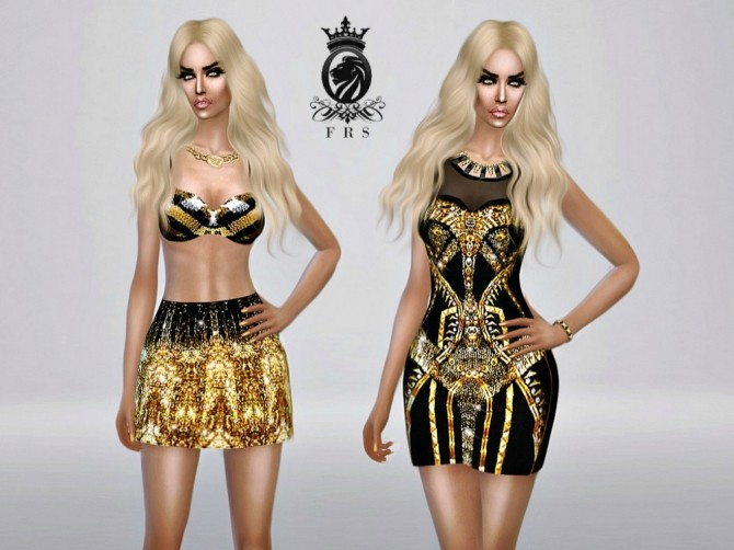 Golden Collection dress, bra & skirt at Fashion Royalty Sims image 2320 670x502 Sims 4 Updates