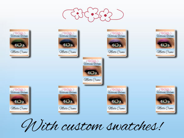 Sims 4 Victorias Fortune Matte Creme Eye Shadow Collection at TSR
