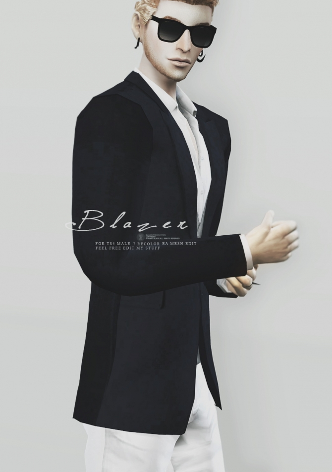 Blazer For Males At Black Le 187 Sims 4 Updates