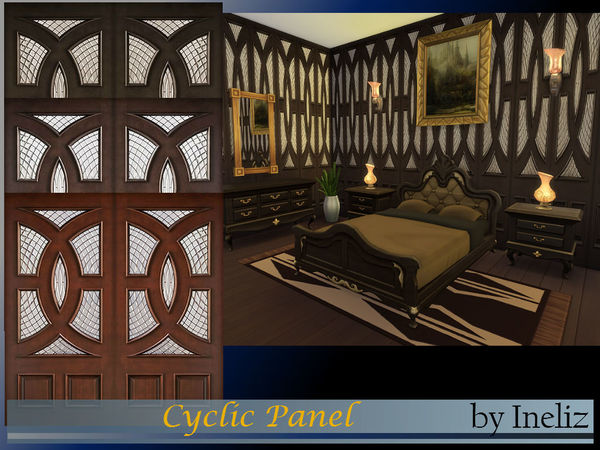 Sims 4 Cyclic Panel by Ineliz at TSR