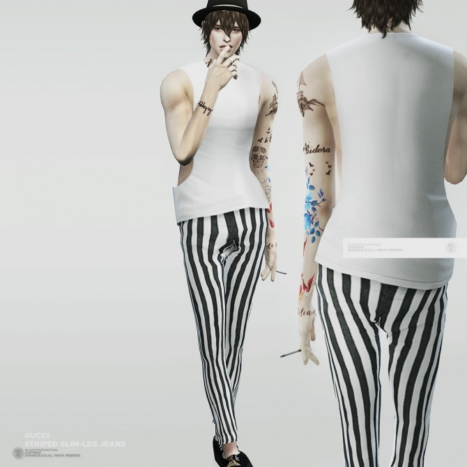 Designer Pants Both Genders At Black Le 187 Sims 4 Updates