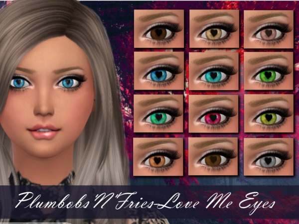 Sims 4 Love Me Eyes by Plumbobs n Fries at TSR