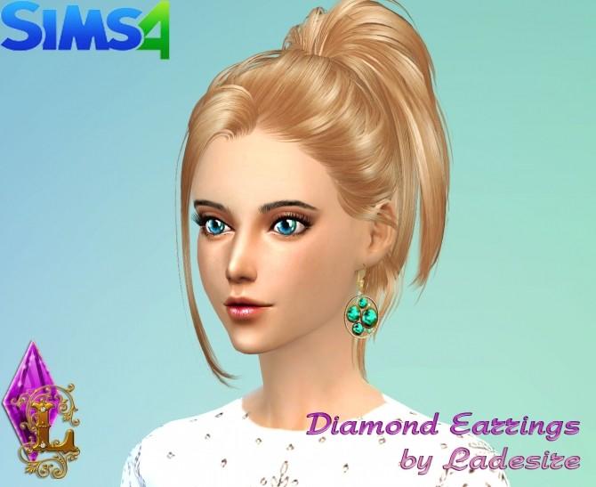 Sims 4 Diamond Earrings at Ladesire