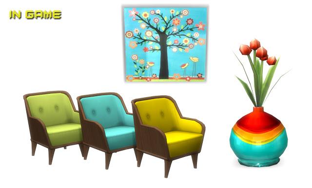 Sims 4 Barbara Livingroom Set at Lunararc