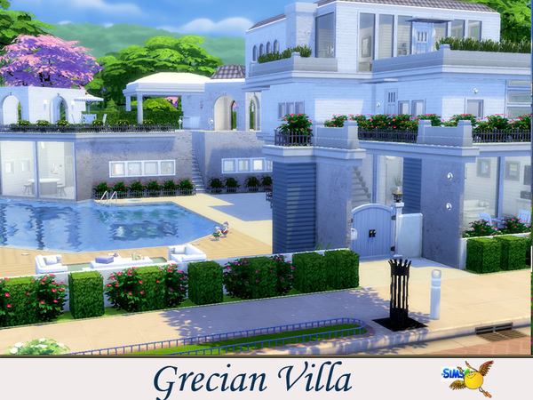 Sims 4 Grecian Villa by evi at The Sims Resource