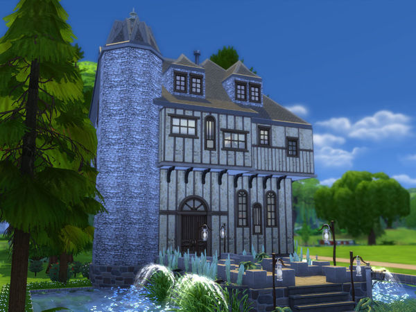 Sims 4 Forest Castle by Ineliz at TSR