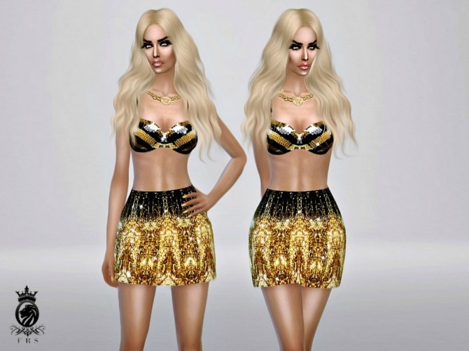 Golden Collection dress, bra & skirt at Fashion Royalty Sims image 2514 670x501 Sims 4 Updates