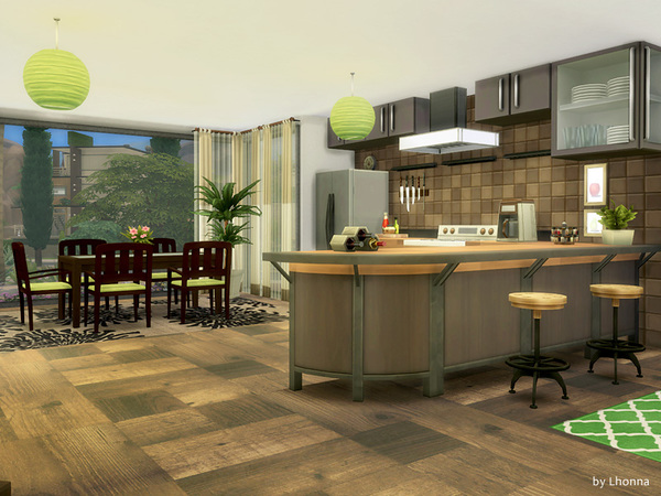 Sims 4 Eco Line 2.0 house by Lhonna at TSR