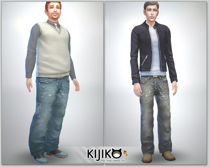 Relaxed Jeans for Male at Kijiko image 2626 670x531 Sims 4 Updates