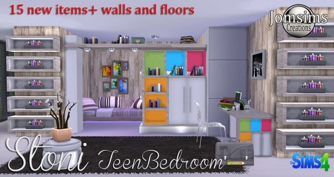 Stoni teenbedroom at Jomsims Creations image 2691 670x355 Sims 4 Updates