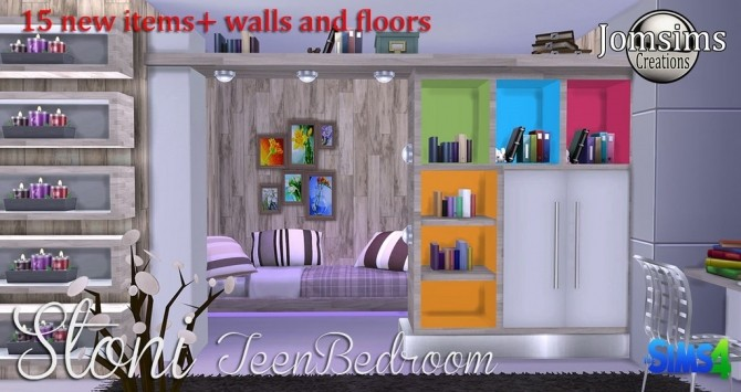 Stoni teenbedroom at Jomsims Creations image 27110 670x355 Sims 4 Updates