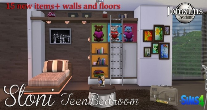 Stoni teenbedroom at Jomsims Creations image 2724 670x355 Sims 4 Updates