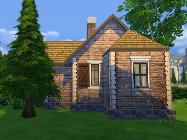 Sims 4 Starter Wood Cottage by Ineliz at TSR