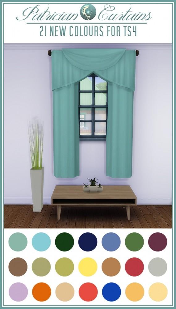 Sims 4 Patrician curtains at Jorgha Haq