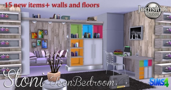 Stoni teenbedroom at Jomsims Creations image 2731 670x355 Sims 4 Updates