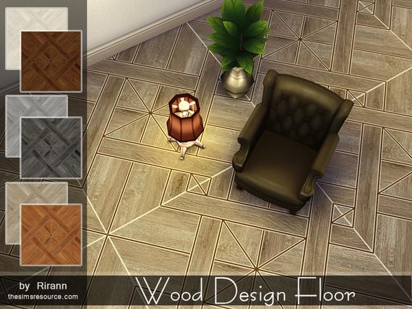 Sims 4 Wood Design Floor by Rirann at TSR