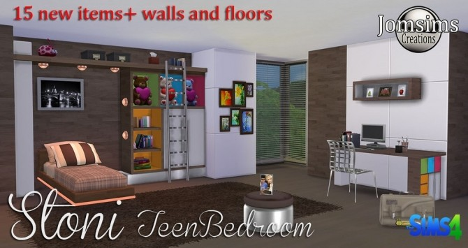 Stoni teenbedroom at Jomsims Creations image 2741 670x355 Sims 4 Updates