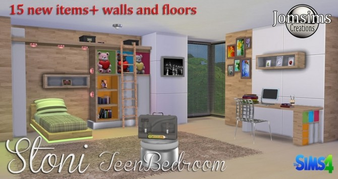 Stoni teenbedroom at Jomsims Creations image 2751 670x355 Sims 4 Updates
