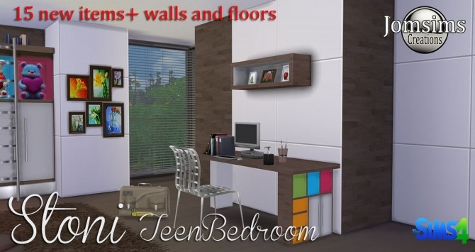 Stoni teenbedroom at Jomsims Creations image 2771 670x355 Sims 4 Updates