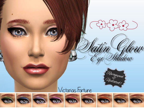 Sims 4 Satin Glow Eye Shadow Collection by fortunecookie1 at TSR