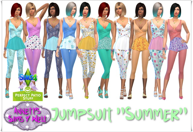 Sims 4 Perfect Patio Stuff Jumpsuit Summer at Annett's Sims 4 Welt