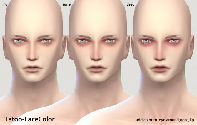 Tatoo Face color at Imadako image 3015 670x427 Sims 4 Updates