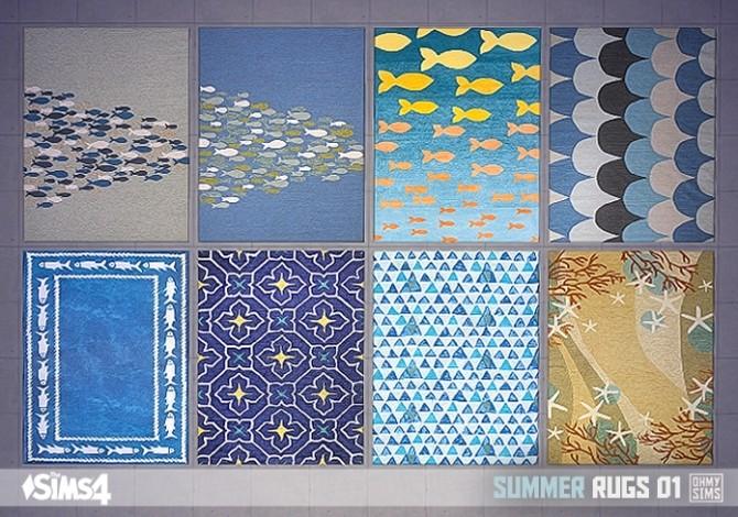 Sims 4 Summer rugs 01 at Oh My Sims 4