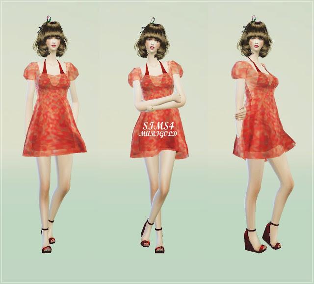 Sims 4 Flower summer dress at Marigold