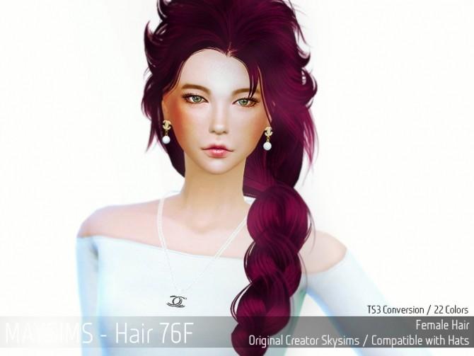 Sims 4 Hair 76F (Skysims) at May Sims