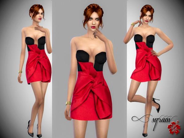 Sims 4 Taffeta Dress by EsyraM at TSR