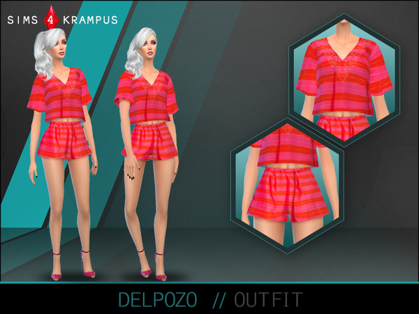 Sims 4 Delpozo Outfit by SIms4Krampus at TSR