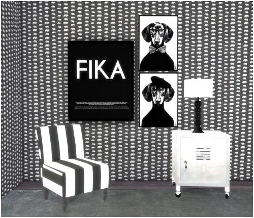 Sims 4 Swedish designer set   paintings + svenskt tenn wallpaper at Hvikis