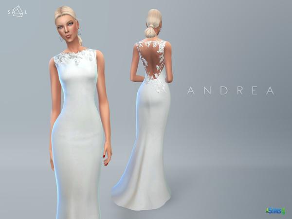 Sims 4 Wedding Dress ANDREA by starlord at TSR