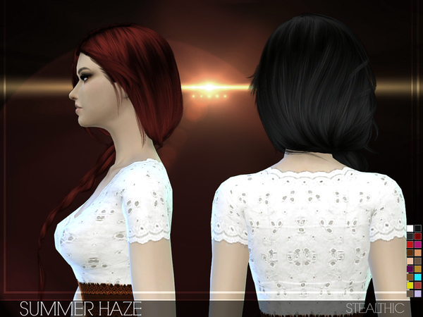 Sims 4 Summer Haze Female Hair by Stealthic at TSR