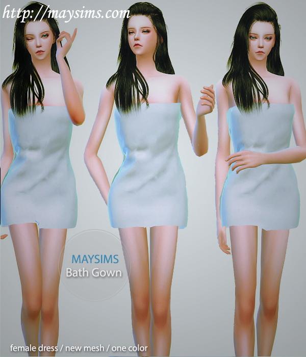 Sims 4 Towel dress at May Sims
