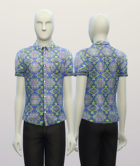 Cuffed Hippie patterned shirt at Rusty Nail image 3211 Sims 4 Updates