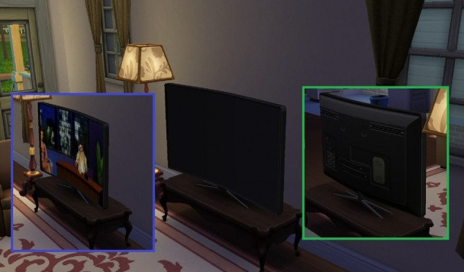 Sims 4 SmartTV Curved brand new mesh by TheV at Mod The Sims