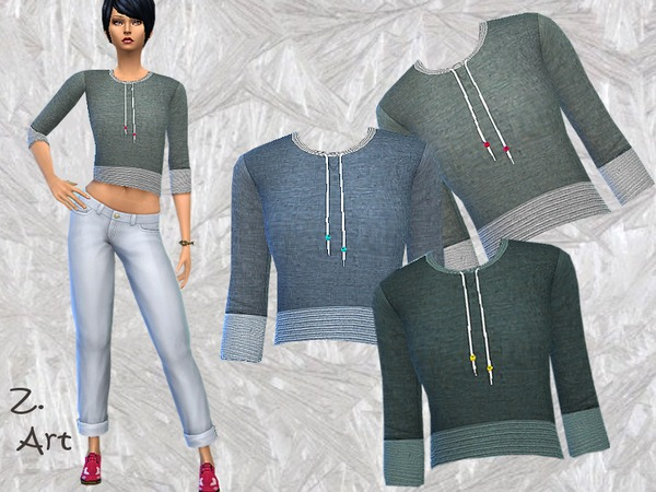 Sims 4 Simple Sweater by Zuckerschnute20 at TSR