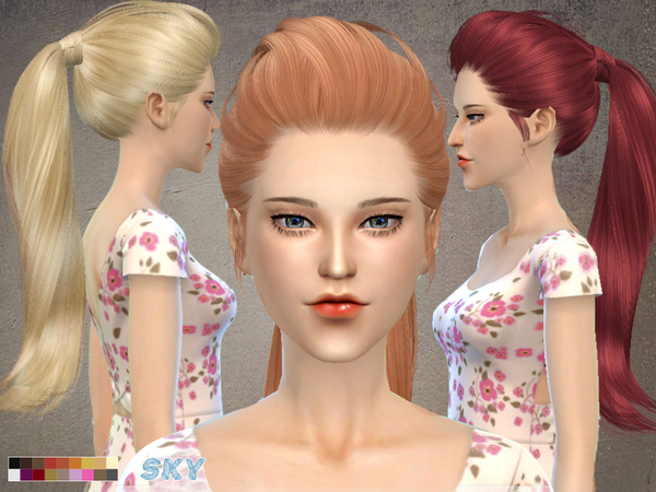 Sims 4 Hair 266 hell by Skysims at TSR
