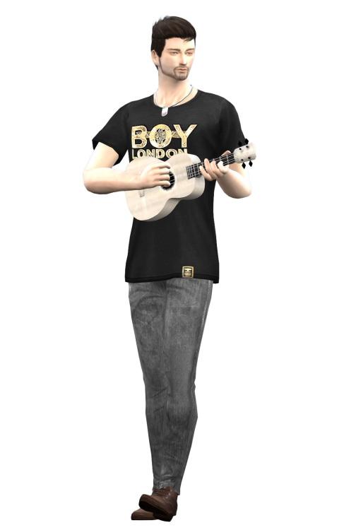 Ukulele instrument & poses by Lonelyboy at Happy Life Sims image 3323 Sims 4 Updates