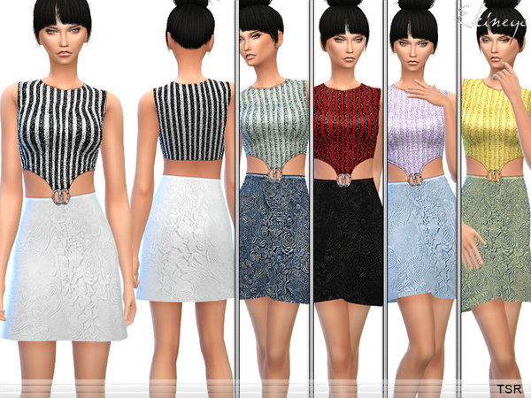 Sims 4 Sequin Embroidered Dress by ekinege at TSR