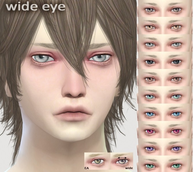 Sims 4 WIDE eyes at Imadako