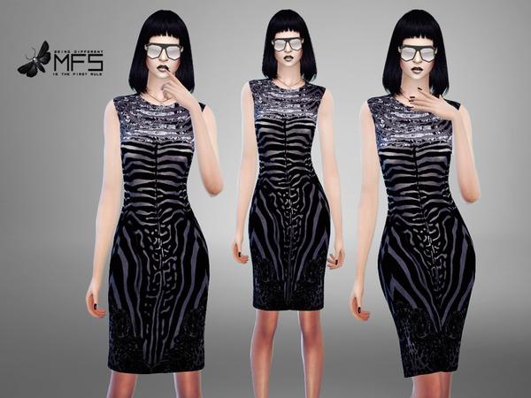 Sims 4 MFS Annika Dress by MissFortune at TSR