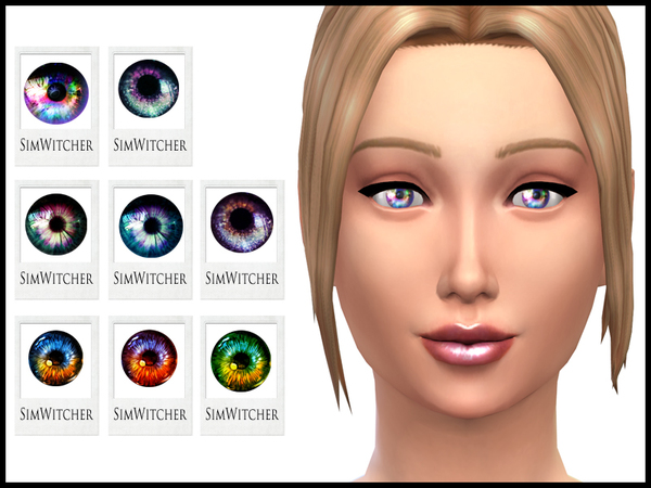 Sims 4 Cosmic Eyes by Witchbadger at TSR