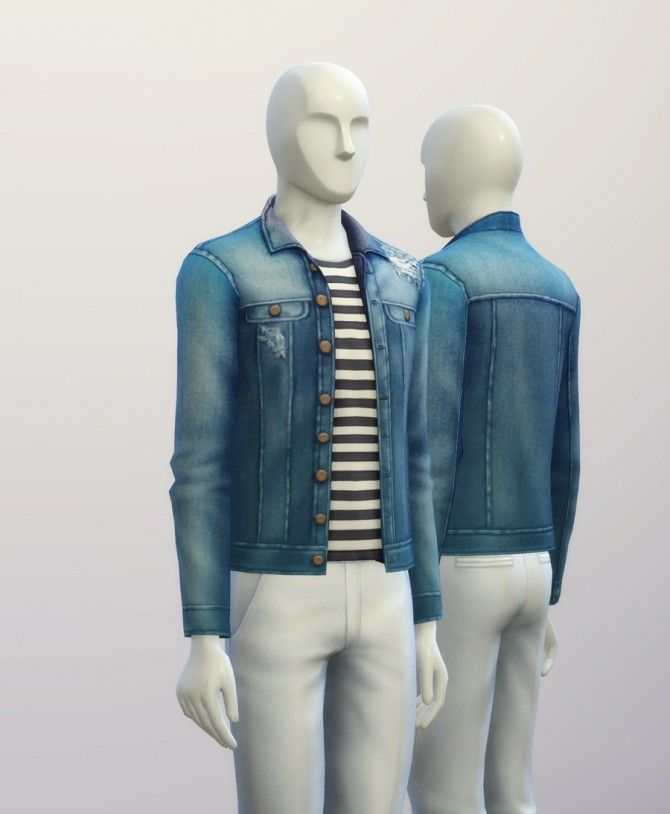 Denim jacket (9 colors) at Rusty Nail image 347 670x814 Sims 4 Updates